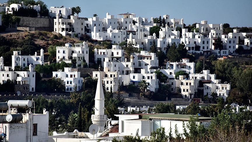 bodrum beyaz evler