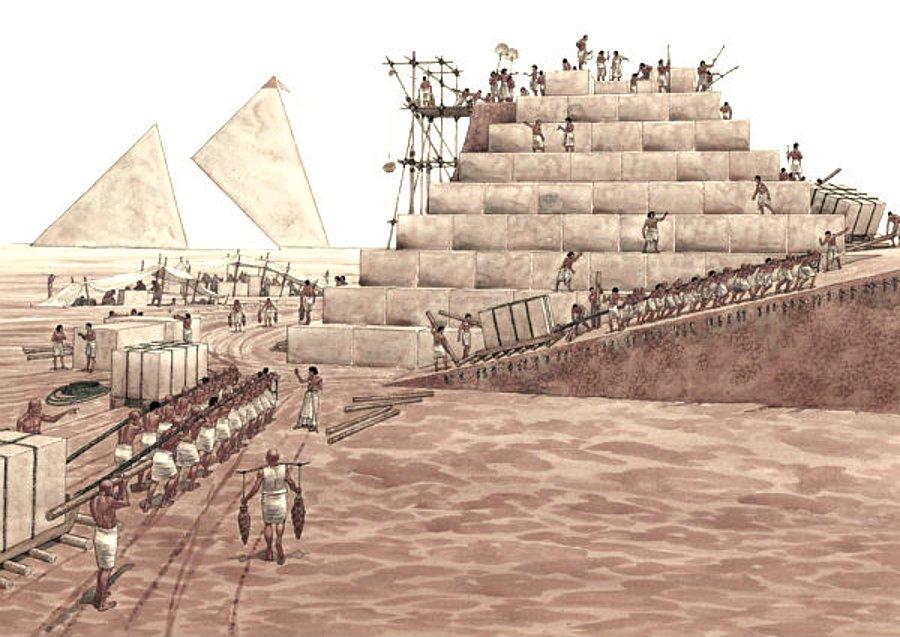 piramitlerin yapılışı