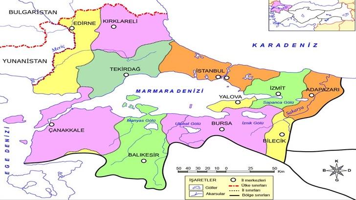 Marmara Bölgesinde Çıkarılan Madenler